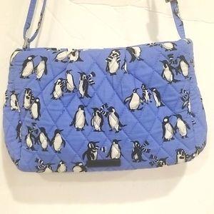 VERA BRADLEY Playful Penguin Zippered Purse